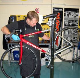 cycle servicing in the lake district