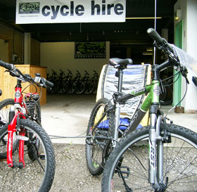 group mountain bike hire in Windermere village